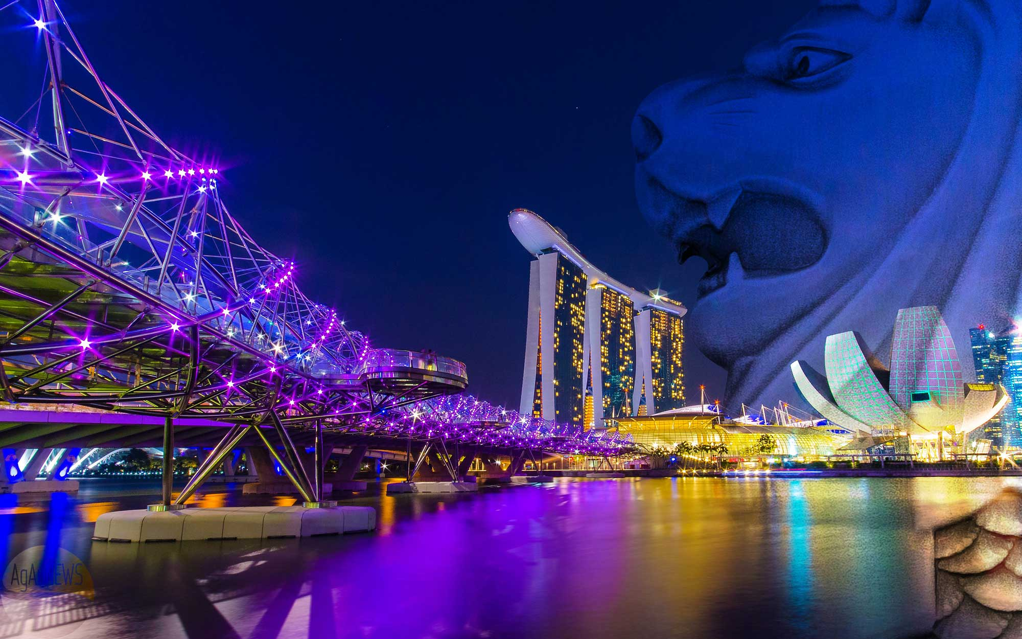 Singapore S Iconic Merlion Is Celebrated On A New High
