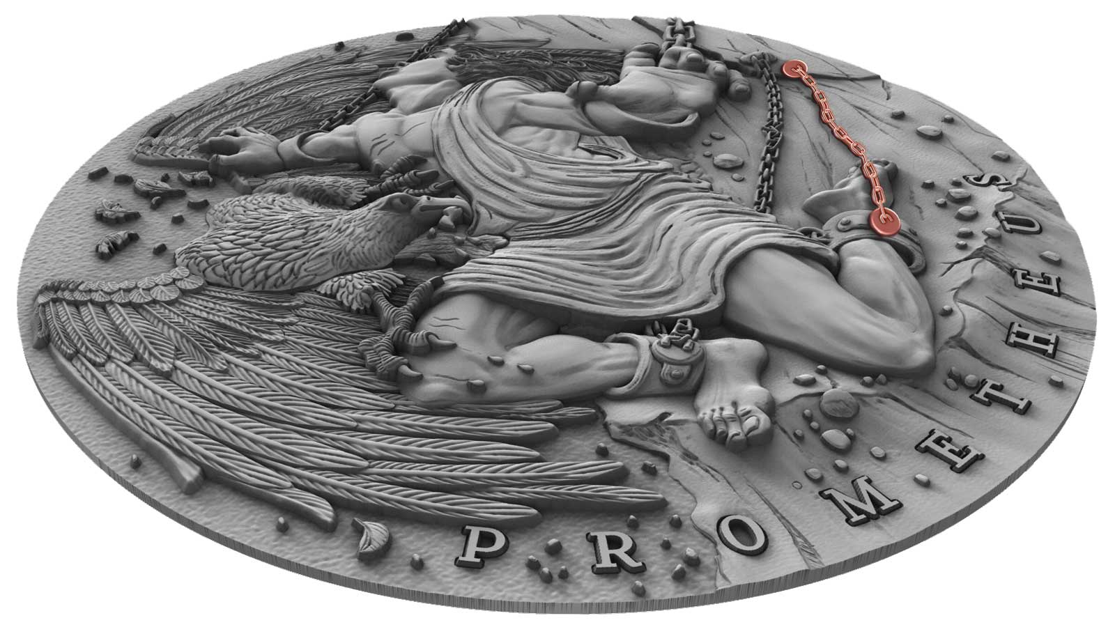 GILDED EDITION 2017 LUNAR YEAR OF THE ROOSTER SILVER COIN 1 OZ ROCKY ZHAO