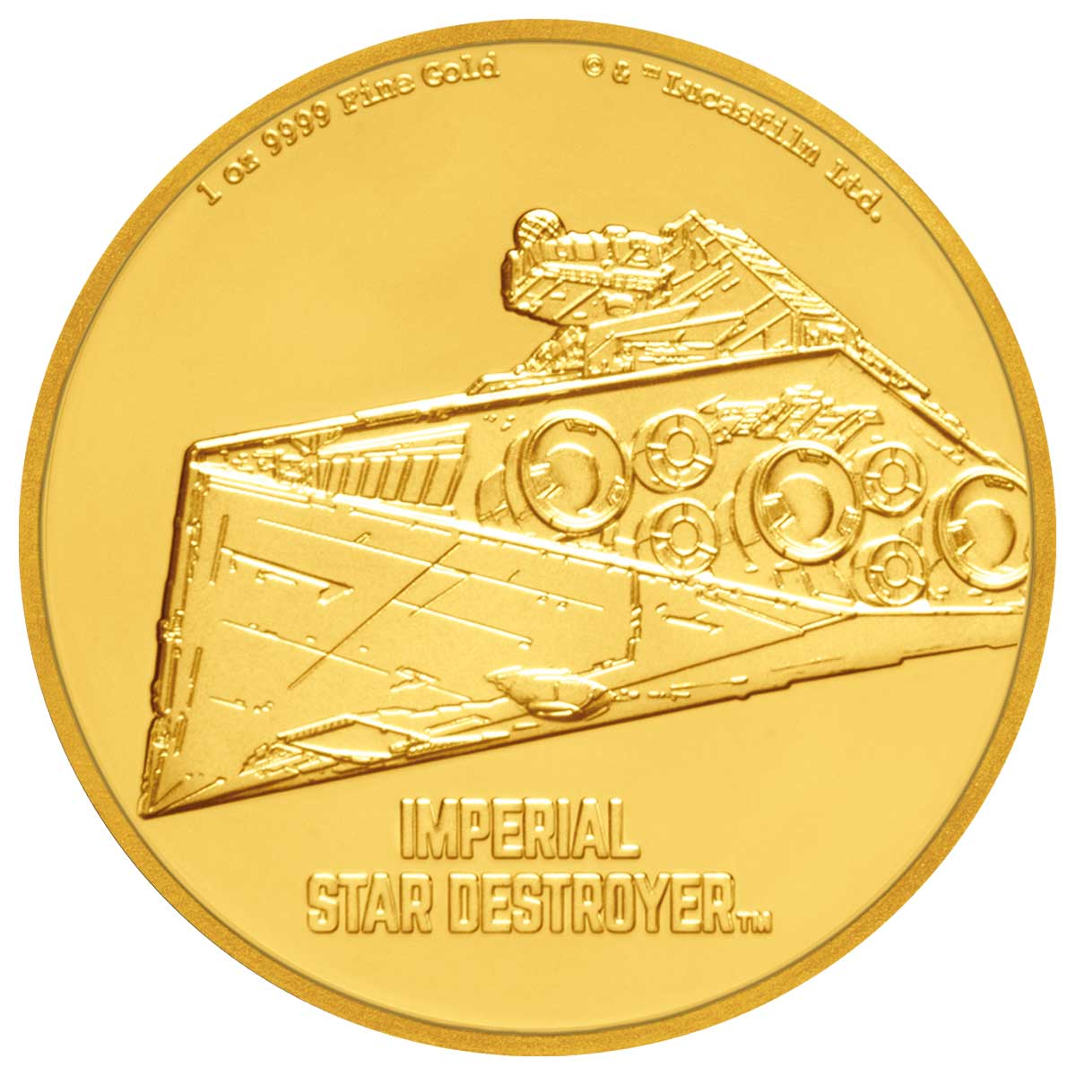 2017 Star Wars Ships Imperial Star Destroyer 1oz Silver Coin