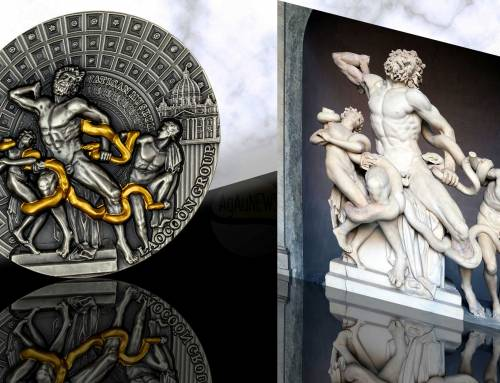 The Laccoon Group, one of the world's great ancient sculptures, is heralded on the Mint of Poland's latest coin