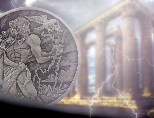 World exclusive! Perth Mints genre-founding 'Zeus' from Gods of Olympus is back as a limited run bullion coin
