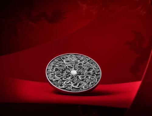 A stunning, intricate, high-relief 'Nine Dragons' coin brings Art Mint's visual talent to the Far East